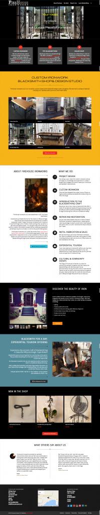 Website Design for Blacksmith Studio and Online Shop