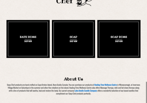 Soap Chef Online Shop Website Design by Beach Pea Design